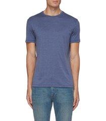 crewneck silk cotton blend t-shirt