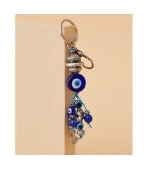 chaveiro com olho grego - chaveiro grécia cor: azul - tamanho: único