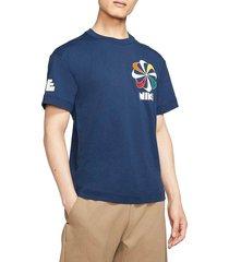 camiseta de hombre m nsw ss tee classics 1 nike azul
