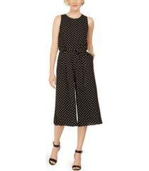 vince camuto polka-dot cropped jumpsuit