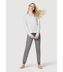 pijama hering longo feminino - feminino