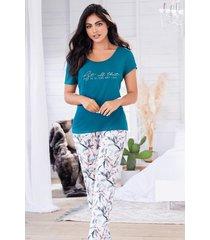 pijama mujer conjunto pantalón manga corta 11523