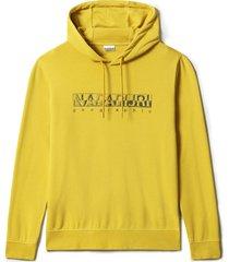 napapijri ballar hoodie geel regular fit np0a4f9k/ya9