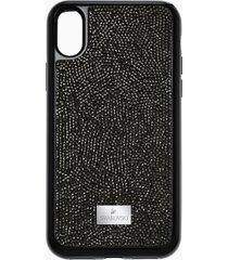 custodia smartphone con bordi protettivi integrati glam rock, iphoneâ® x/xs, nero