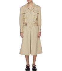 cotton trench culotte jumpsuit