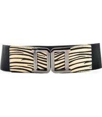 cinturón elástico hebilla cebra mailea