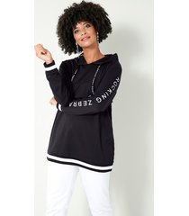 sweatshirt angel of style zwart::wit