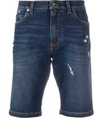 dolce & gabbana slim-fit denim shorts - blue