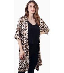 kimono alex animal print tiger jacinta tienda