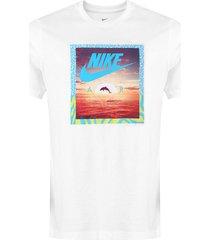 camiseta nike sportswear nsw aqua photo branca - kanui