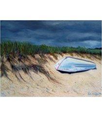 "paul walsh cape cod boat canvas art - 19.5"" x 26"""
