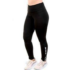 calça galvic legging preta lisa detalhe elástico