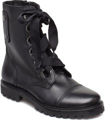 joe shoes boots ankle boots ankle boots flat heel svart zadig & voltaire