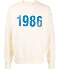 helmut lang 1986 print sweatshirt - neutrals