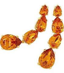 az collection designer earrings, tangerine dangle earrings