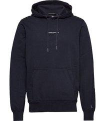 instit chest logo re hoodie trui blauw calvin klein jeans