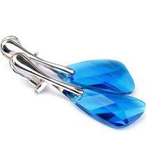 klipsy z kryształami swarovski capri blue wing