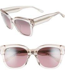 women's maui jim siren song 54mm polarizedplus2 cat eye sunglasses - crystal w/ hint of pink