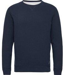 basic sweat sweat-shirt tröja blå tom tailor