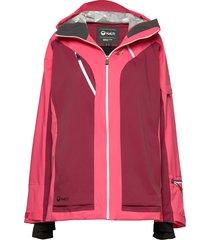 podium women's dx ski jacket outerwear sport jackets roze halti
