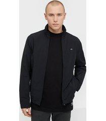 calvin klein crinkle nylon blouson jacket jackor black
