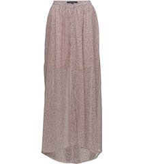 elao sheer maxi skirt lange rok roze french connection