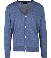 merino wool button-up sweater