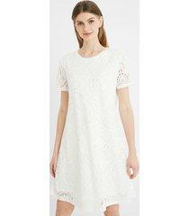 embossed t-shirt dress - white - xl