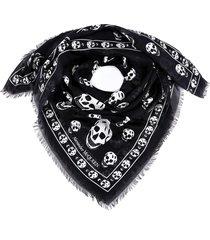 alexander mcqueen foulard skull scarf