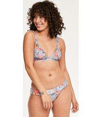 camilla soft triangle frill bikini top