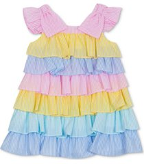 rare editions baby girls tiered colorblocked dress