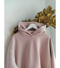 bluza z kapturem rozowa light pink soho