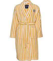 striped cotton-mix terry robe morgonrock badrock gul lexington home