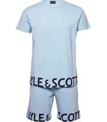 carter pyjamas blå lyle & scott