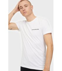 calvin klein jeans chest institutional slim tee t-shirts & linnen bright white