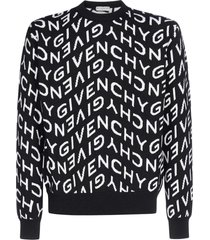 givenchy refracted logo wool sweater