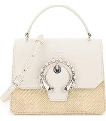 jimmy choo madeline satchel bag small pearls buckle