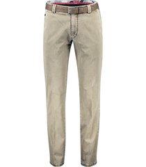 meyer bonn pantalon katoen camel chino riem