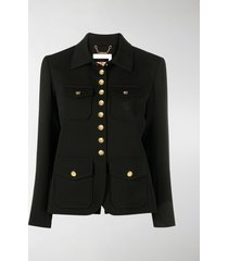 chloé fitted button-up jacket