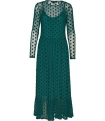 smile ls midi dress maxi dress galajurk groen soft rebels