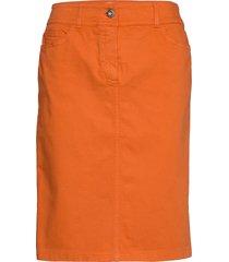 skirt short woven fa knälång kjol orange gerry weber edition