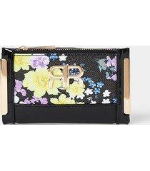 river island womens black floral print mini purse