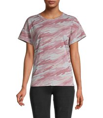 printed cotton-blend tee