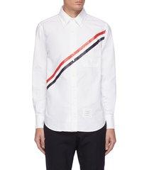 diagonal stripe oxford shirt