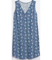 vestido sin mangas prints azul gap