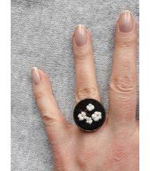 bawełna - haftowany pierścionek
