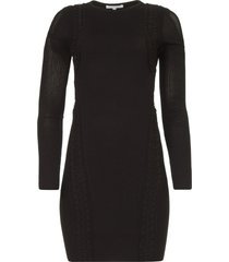 gebreide jurk joanne  zwart