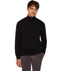 sweater cuello vuelto negro esprit