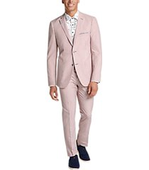 paisley & gray slim fit suit separates coat red & white stripe