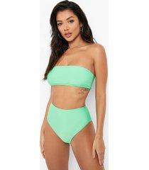 gerecycled bikini broekje met hoge taille, green